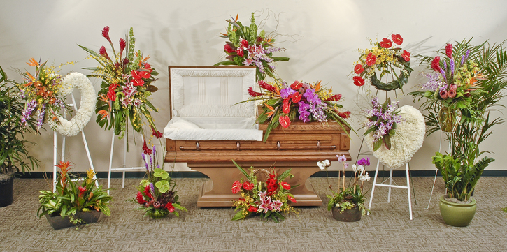 Tropical paradise funeral flowers delivered in baton rouge la tropical paradise mixes mightylinksfo